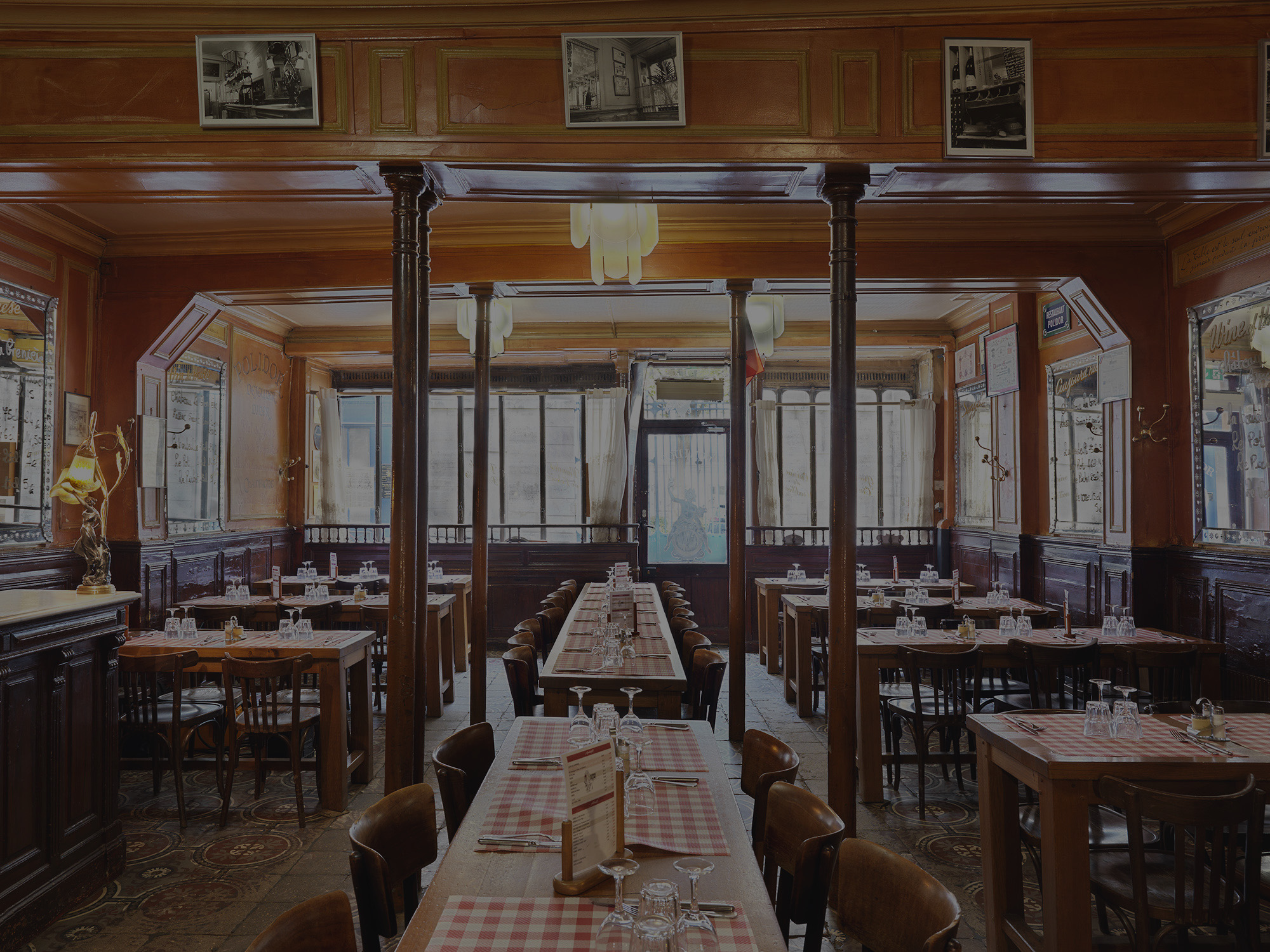 Intérieur salle Polidor restaurant pas cher Paris