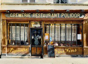 façade du Polidor, restaurant pas cher et historique de Paris