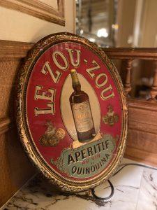 Zouzou, old advertising of the Polidor, historic restaurant in Paris