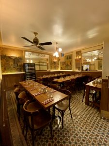 Back room of the Polidor, historic restaurant in Paris